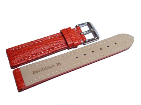 Watch strap - Genuine Shark leather - red