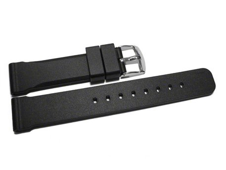 Watch strap - extra strong - Silicone - black