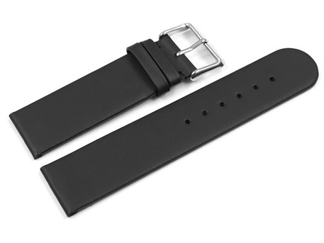 Watch band - hydrophobized leather - Waterproof - Black