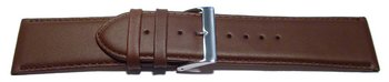 Watch strap - genuine leather - smooth - brown - 26, 28 mm