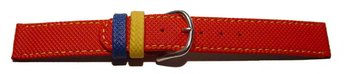 Watch strap - PU - Waterproof - red - XS