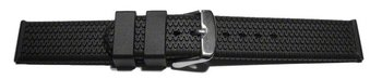 Watch strap - Silicone - Tire profile - black