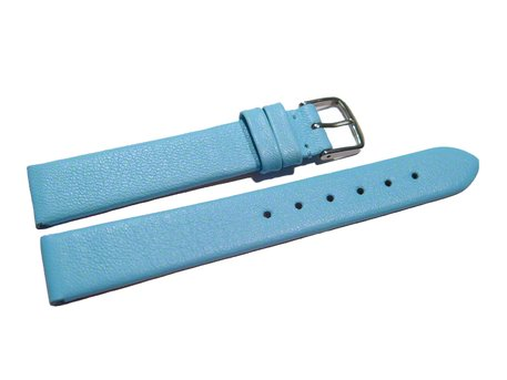 Watch strap - genuine leather - Business - light blue