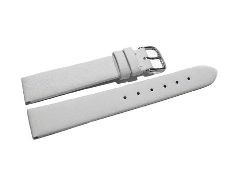 Watch strap - genuine leather - Business - white
