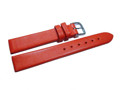 Watch strap - genuine leather - Business - red