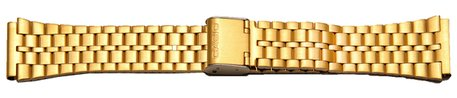 Watch Strap Bracelet Casio for A159WGEA-1EF, gold tone stainless steel