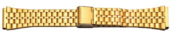 Watch Strap Bracelet Casio for A159WGEA gold tone...