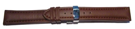 Deployment clasp - Watch strap - Waterproof - High Tech material - brown