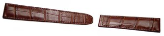 Calfskin watch band - for deployment buckles - dark brown