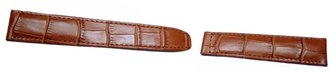 Calfskin watch band - for deployment buckles - light brown