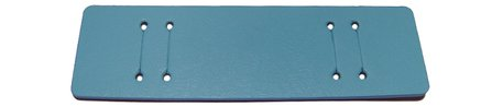 Pad for Watch straps - genuine leather - light blue - (max. 14mm)