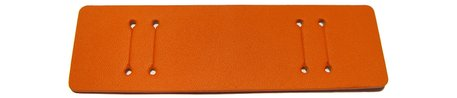 Pad for Watch straps - genuine leather - orange - (max. 14mm)