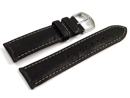 Lotus Watch Strap for 15276 - Leather - Black